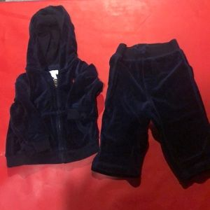 Baby boy velour sweat outfit